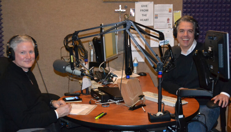 Father Rocky and Drew Mariani in-studio
